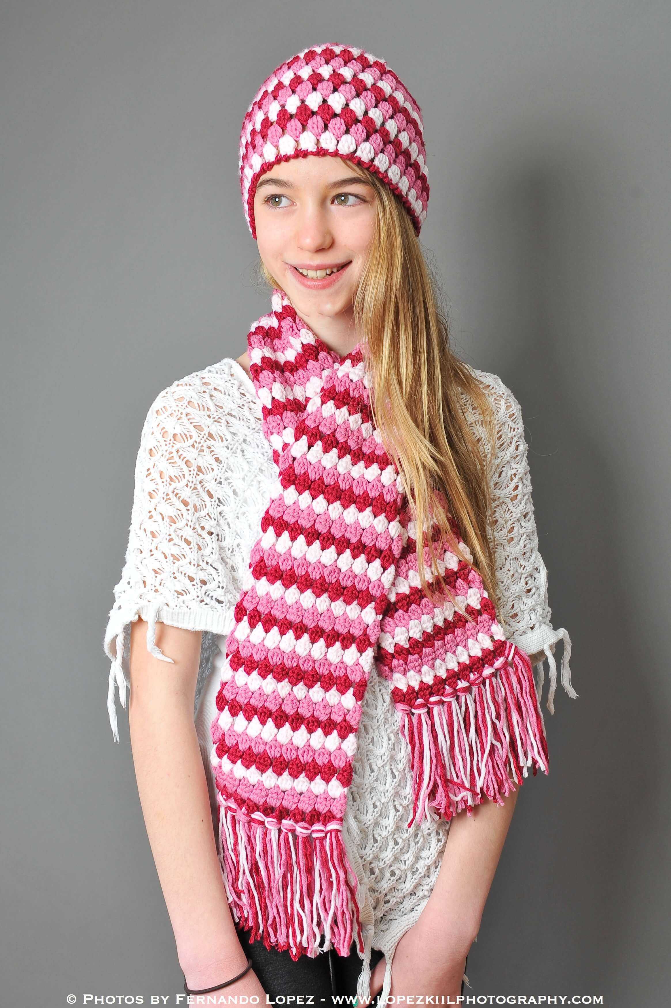 Beautiful Mod Hat and Scarf Crochet Set Petals to Picots Crochet Sets Of Lovely 43 Images Crochet Sets