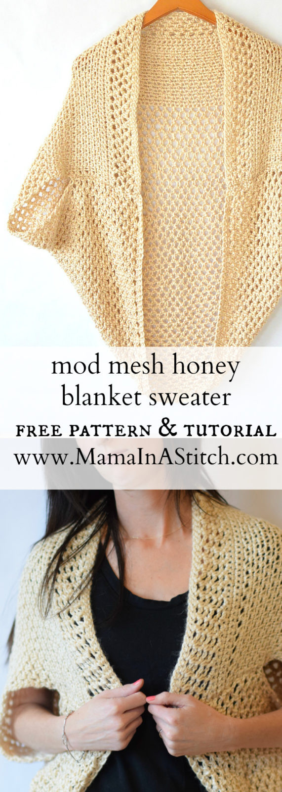 Beautiful Mod Mesh Honey Blanket Sweater – Mama In A Stitch Easy Crochet Sweater Pattern Of Elegant Telluride Easy Knit Kimono Pattern – Mama In A Stitch Easy Crochet Sweater Pattern