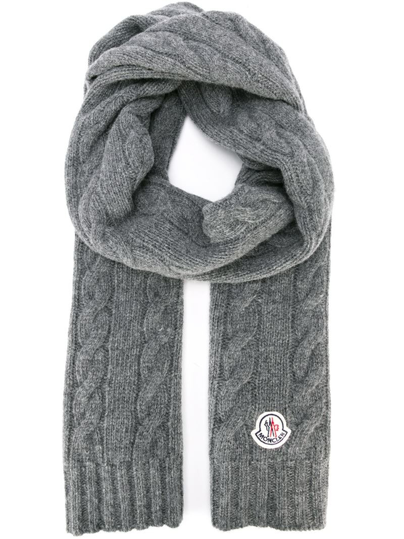 Beautiful Moncler Cable Knit Scarf In Gray for Men Cable Scarf Of Innovative 49 Ideas Cable Scarf