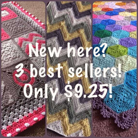 My 3 BEST SELLING crochet patterns for a by BabyLoveBrandKids