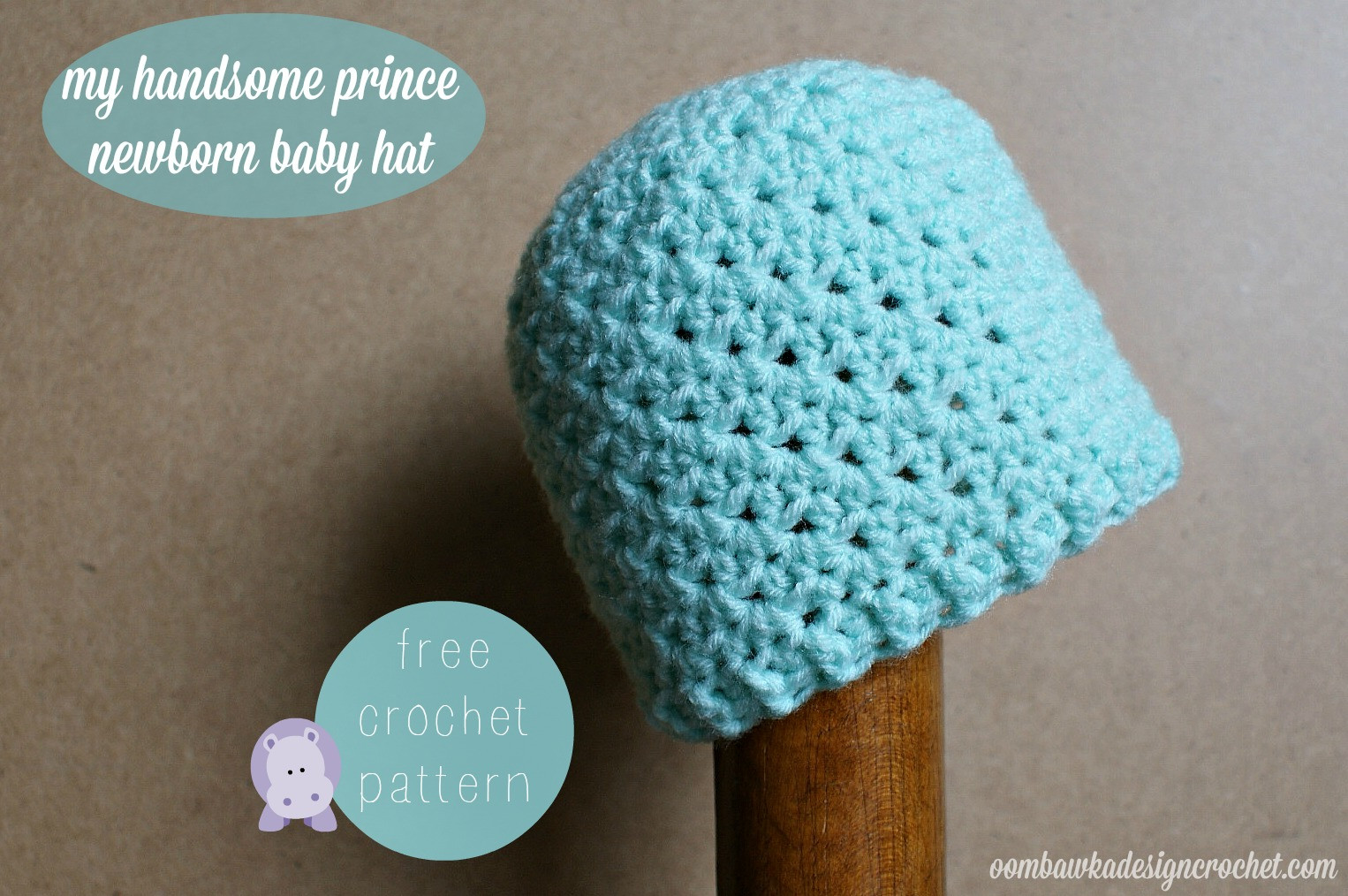 Beautiful My Handsome Prince Newborn Baby Hat Pattern • Oombawka Newborn Hat Pattern Of Great 46 Models Newborn Hat Pattern