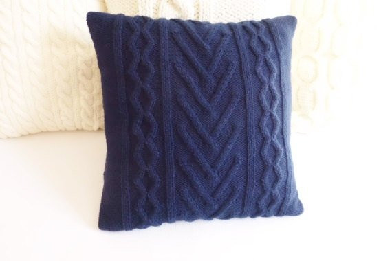 Beautiful Navy Blue Cable Knit Pillow Cover Throw Pillow Indigo Cable Knit Throw Pillow Of Great 48 Ideas Cable Knit Throw Pillow