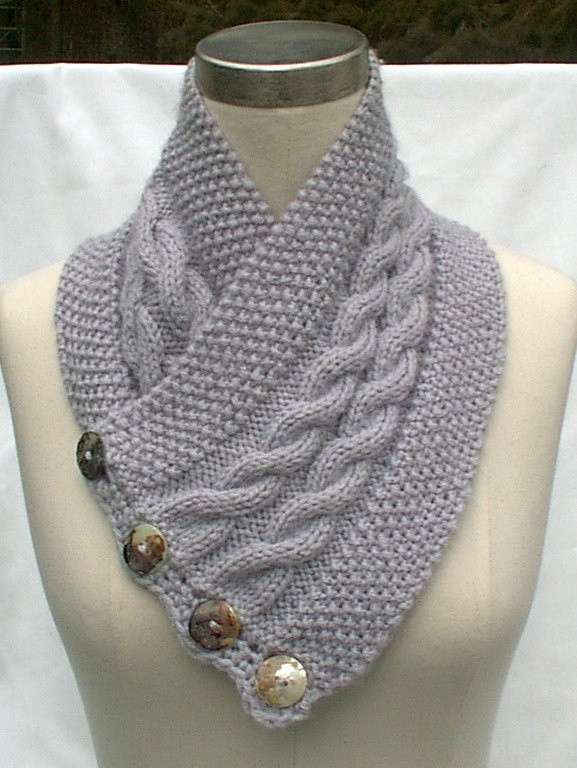 Beautiful Neck Warmer Scarf Gray Hand Knit Cables by Neck Warmer Patterns Of Incredible 44 Images Neck Warmer Patterns