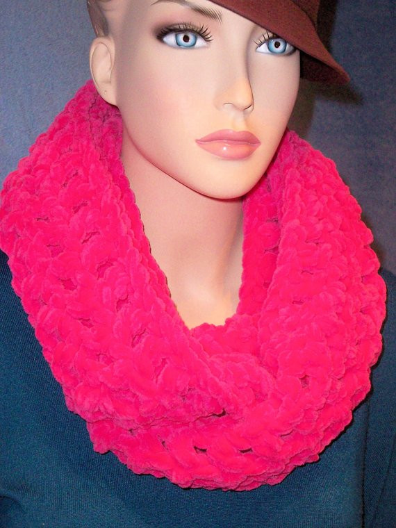 Beautiful Neon Pink Crochet Infinity Scarf Accessories Best Selling Selling Crochet Of Top 47 Ideas Selling Crochet