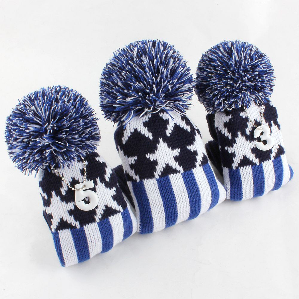 Beautiful New 1 3 5 Pom Pom Head Covers Knit sock Classic Golf Club Knit Golf Headcovers Of Innovative 47 Models Knit Golf Headcovers