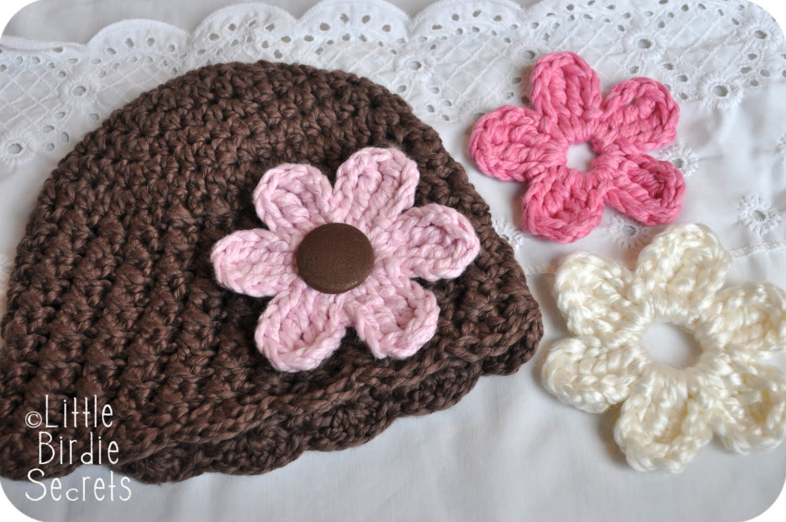 Beautiful New Baby Hat and Bootie Patterns In the Shop Plus A Free Crochet Flower for Hat Of Beautiful 45 Photos Crochet Flower for Hat