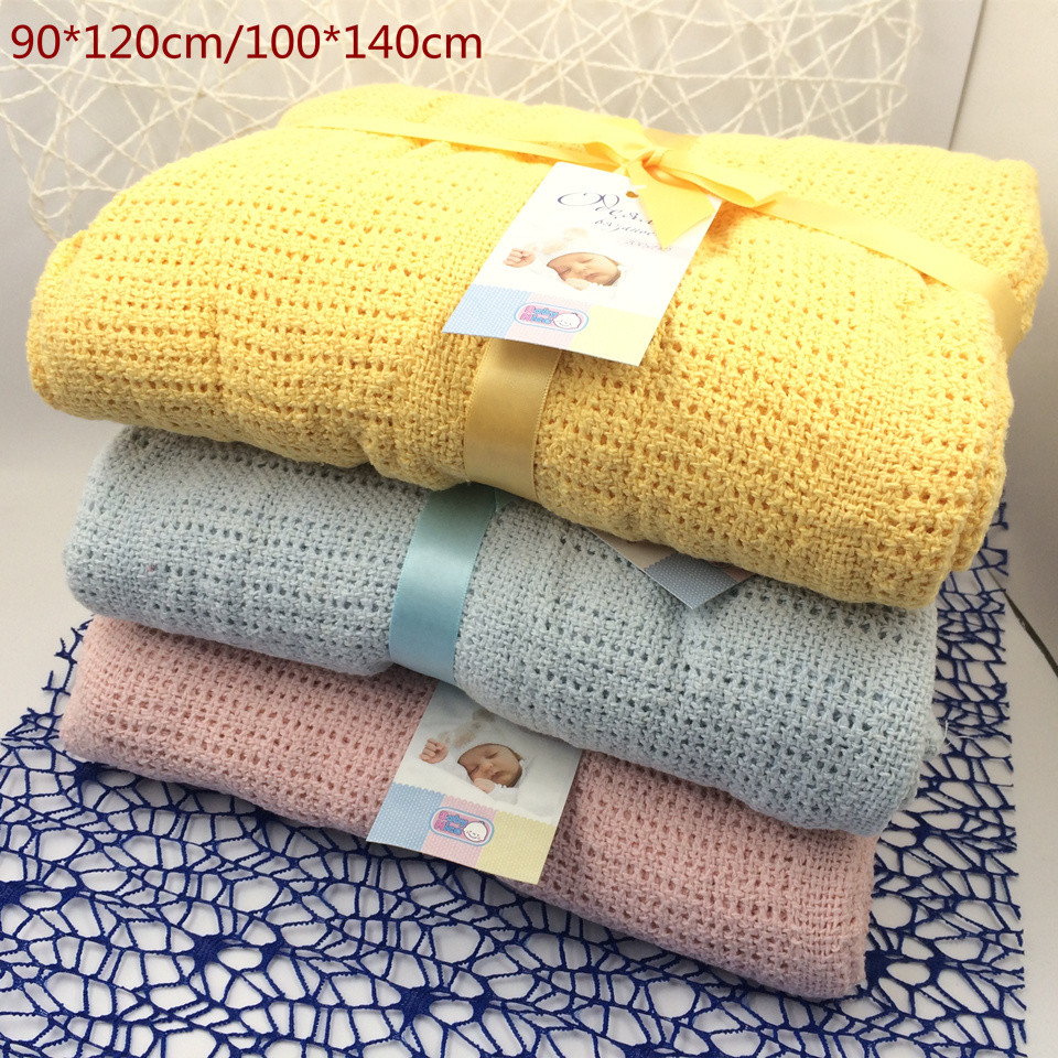New Cotton Baby Blanket Knitted Breathable Props Kids