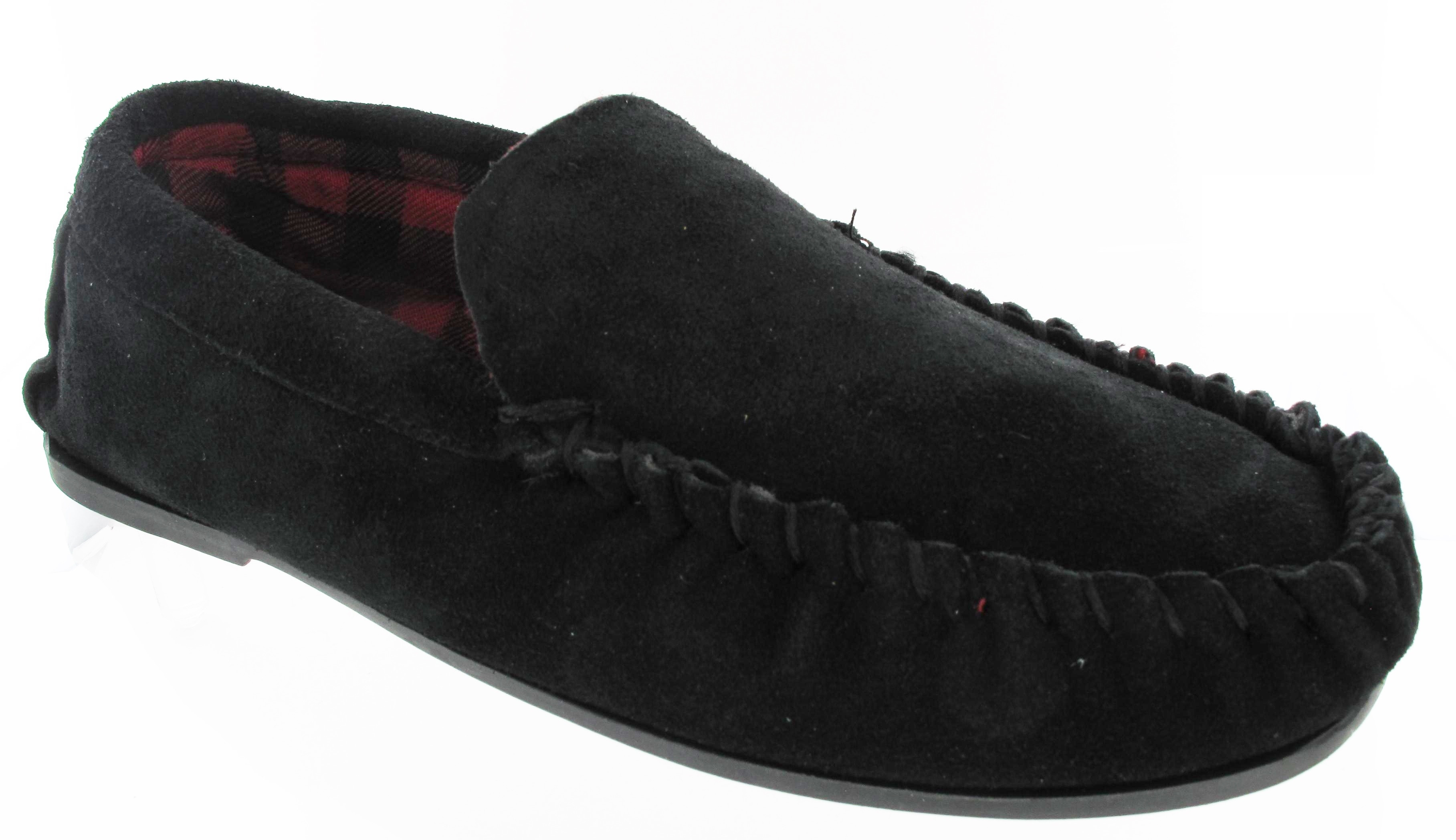 Beautiful New Mens Leather Upper Suede Flat Hard sole Moccasin Warm Leather sole Slippers Of Fresh 46 Models Leather sole Slippers