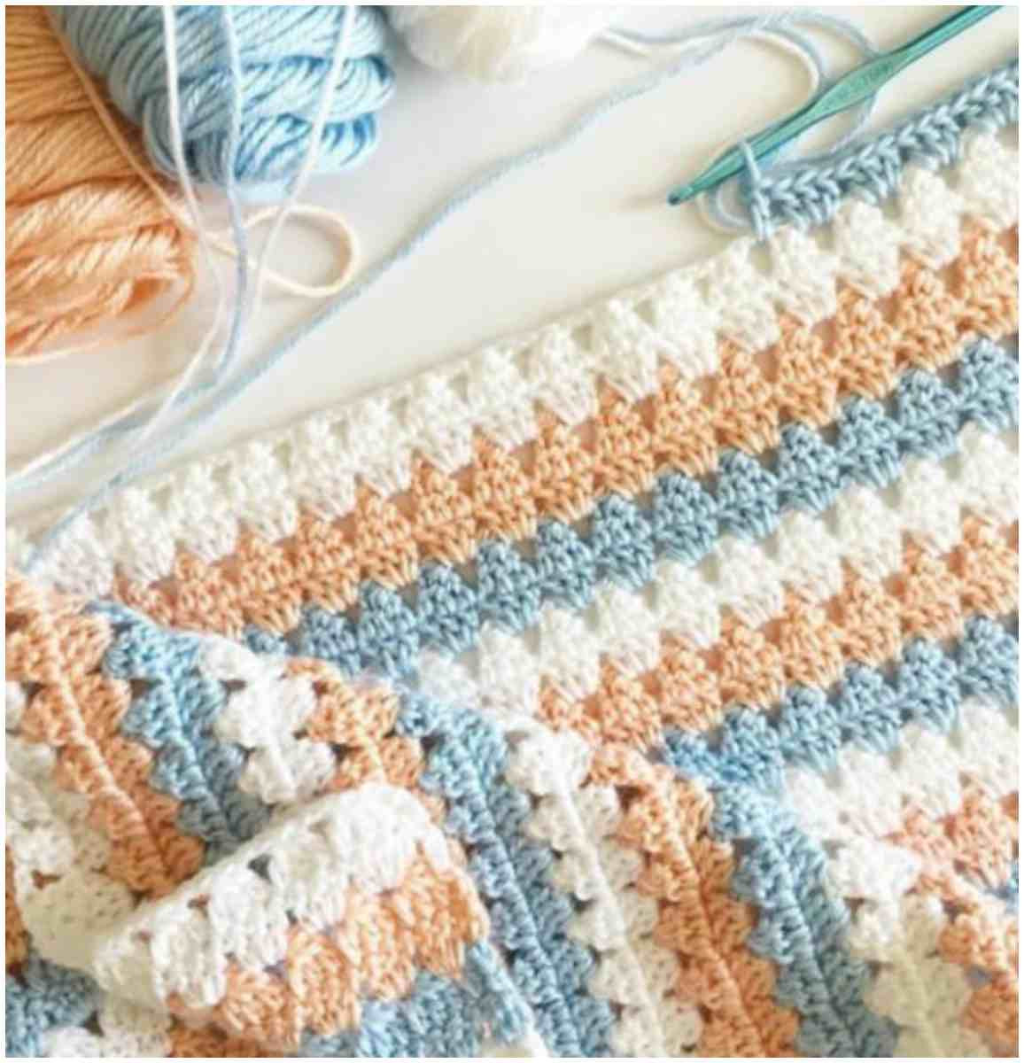 Beautiful New Peach & Blue Granny Blanket Free Crochet Pattern New Crochet Stitches Of Adorable 47 Photos New Crochet Stitches