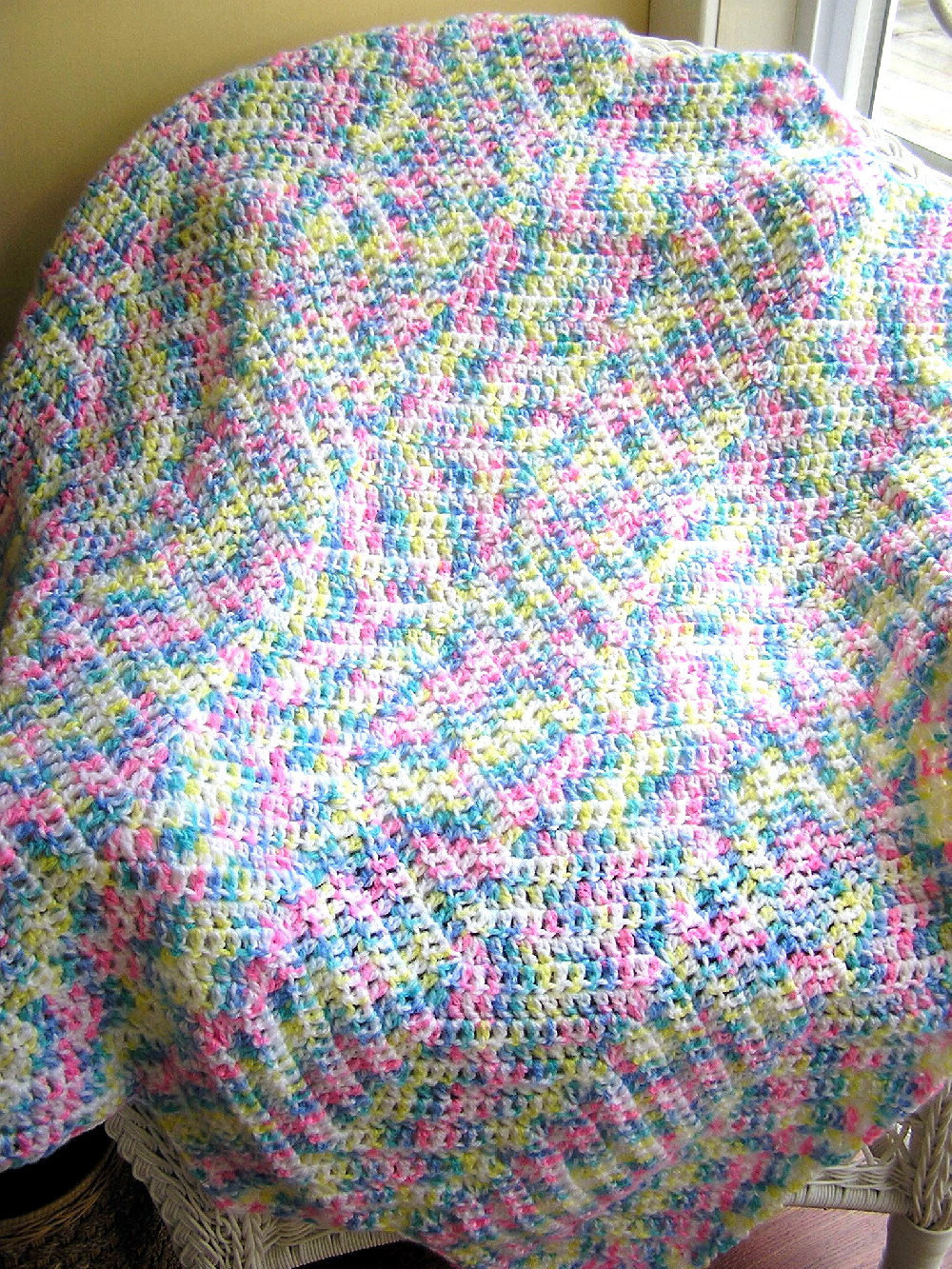Beautiful New Zig Zag Baby Blanket Afghan Wrap Crochet Knit Ripple Zig Zag Crochet Afghan Pattern Of New 43 Pics Zig Zag Crochet Afghan Pattern