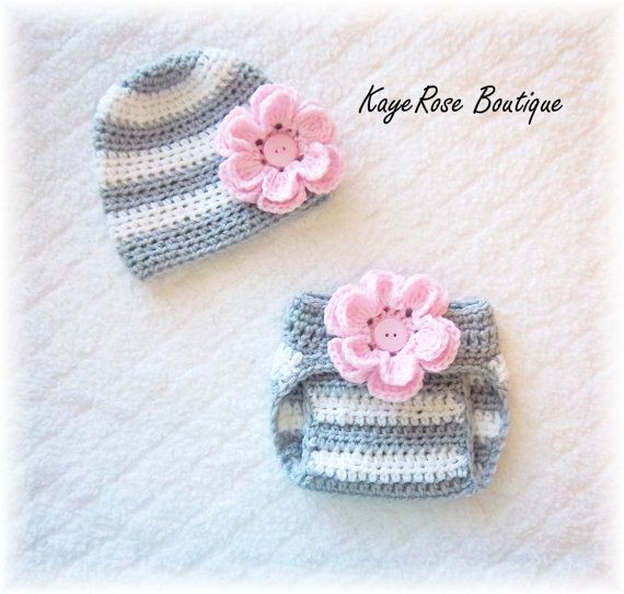 Beautiful Newborn Baby Girl Crochet Flower Hat & Diaper Cover Set Crochet Baby Sets Of Amazing 49 Models Crochet Baby Sets