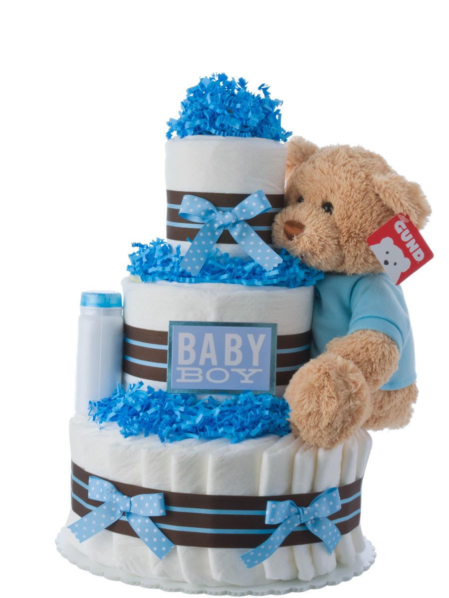 Beautiful Our Lil Darling Boy Diaper Cake Baby Diaper Cake Ideas Of New 48 Pictures Baby Diaper Cake Ideas