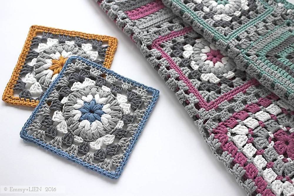 Beautiful Pattern Tutorial Triple Puff Granny Square — Emmy Lien Granny Stitch Crochet Of Amazing 45 Models Granny Stitch Crochet