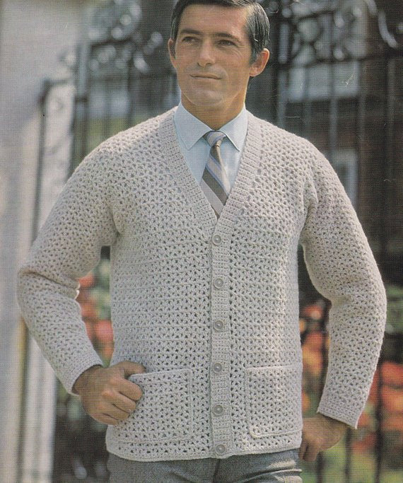 Beautiful Pdf Crochet Men S Cardigan Vintage Crochet Pattern Pdf Mens Patterned Cardigan Of Charming 50 Models Mens Patterned Cardigan