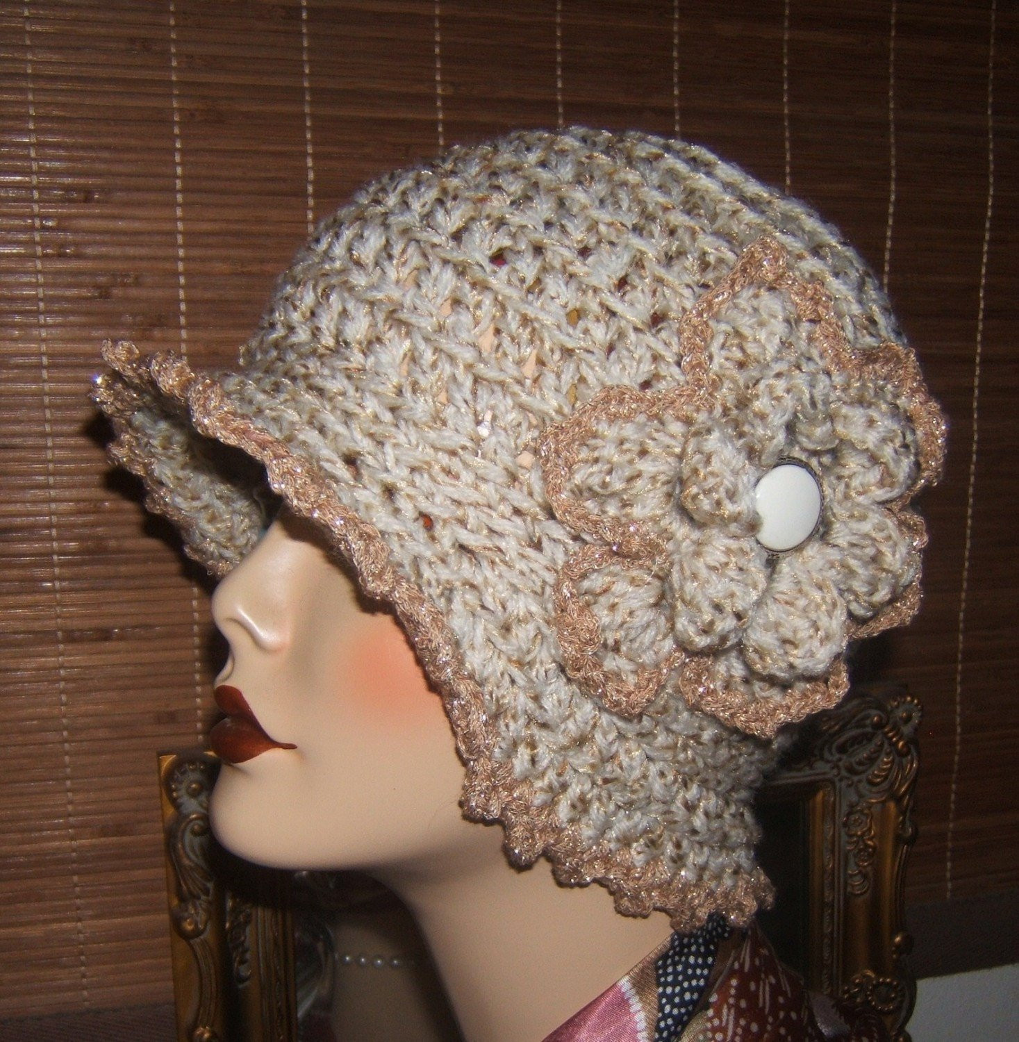 Beautiful Pdf Pattern File Ly Crochet Cloche Hat Gold Fleck Gold Crochet Stitches for Hats Of Lovely 46 Models Crochet Stitches for Hats