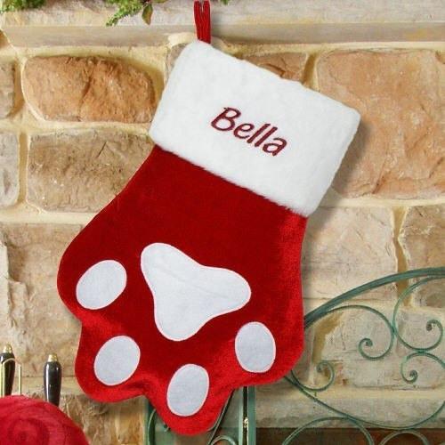 Beautiful Personalized Red Paw Print Christmas Stocking for Dog or Cat Dog Paw Christmas Stocking Of Amazing 42 Ideas Dog Paw Christmas Stocking