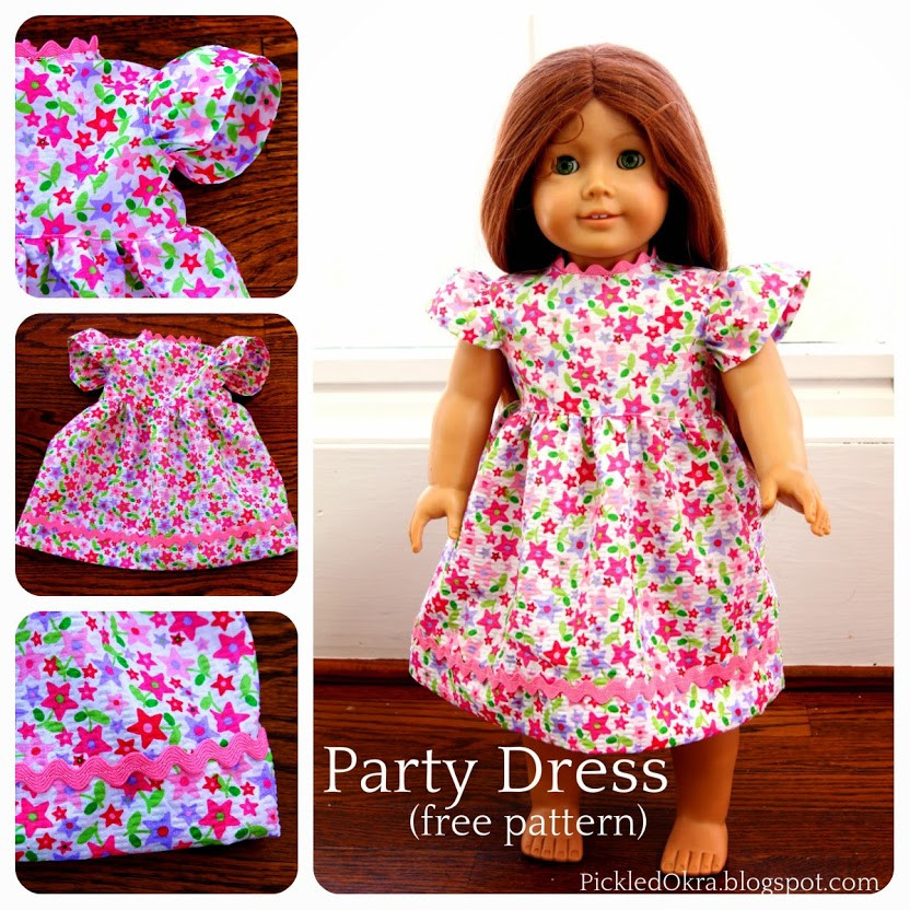 Beautiful Pickled Okra by Charlie Free Party Dress Pattern for Your Free American Girl Doll Clothes Patterns Of Lovely 49 Models Free American Girl Doll Clothes Patterns