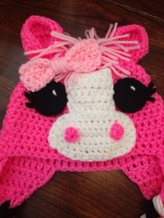 Beautiful Pink Purple Little Pony Horse Crochet Hat Child Crochet Pink Crochet Hat Of Great 43 Models Pink Crochet Hat