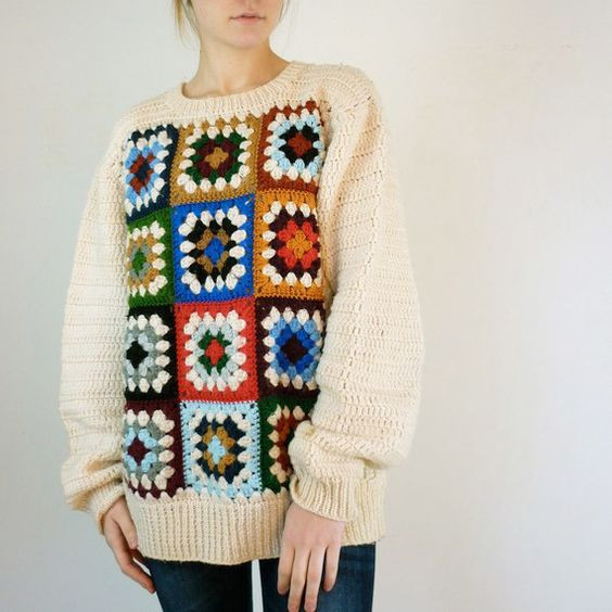 Beautiful Pinterest • the World's Catalog Of Ideas Granny Square Sweater Of Superb 45 Photos Granny Square Sweater