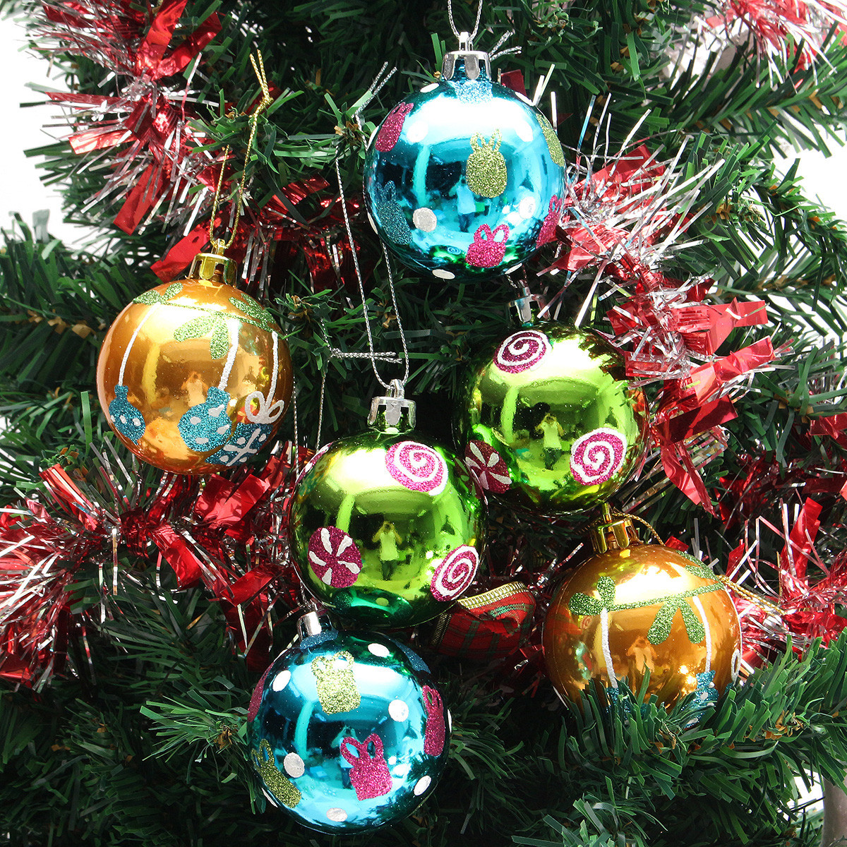 Beautiful Plastic Christmas Baubles Handmade & Painted Ball Tree Christmas Tree Balls Of Wonderful 50 Pictures Christmas Tree Balls