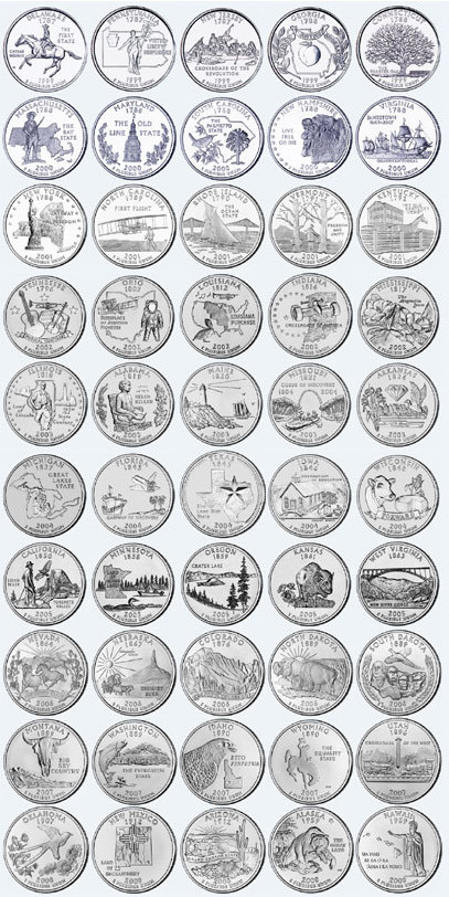 Beautiful Plete 50 State Quarters Us State Quarter Collection Of Charming 49 Ideas Us State Quarter Collection