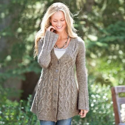 Beautiful Plump Cables Join to Echo the V Neck Of This Cozy Cardigan Big Comfy Sweaters Of New 50 Pics Big Comfy Sweaters
