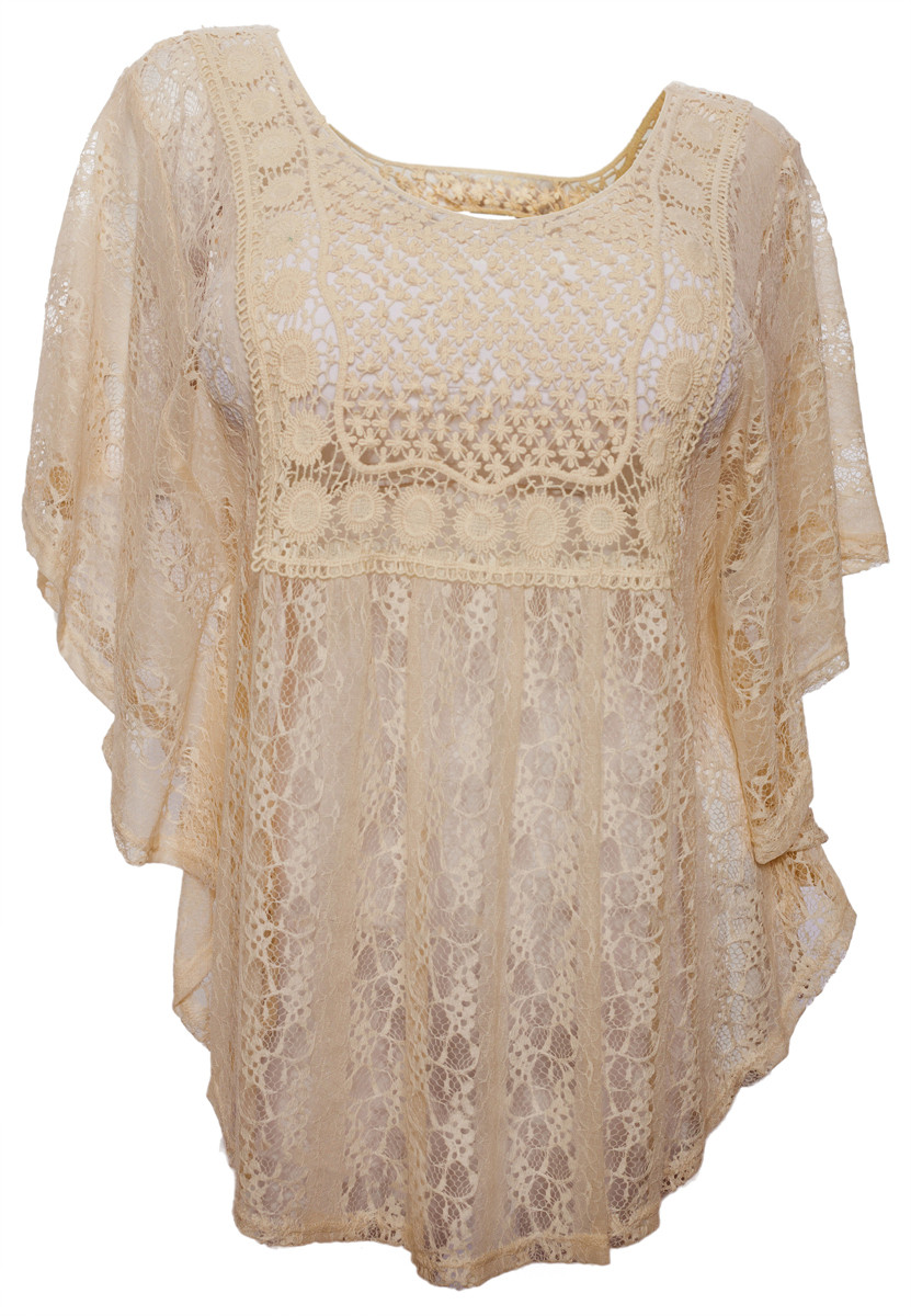 Beautiful Plus Size Sheer Crochet Lace Poncho top Ivory Crochet Lace top Of Fresh 40 Models Crochet Lace top