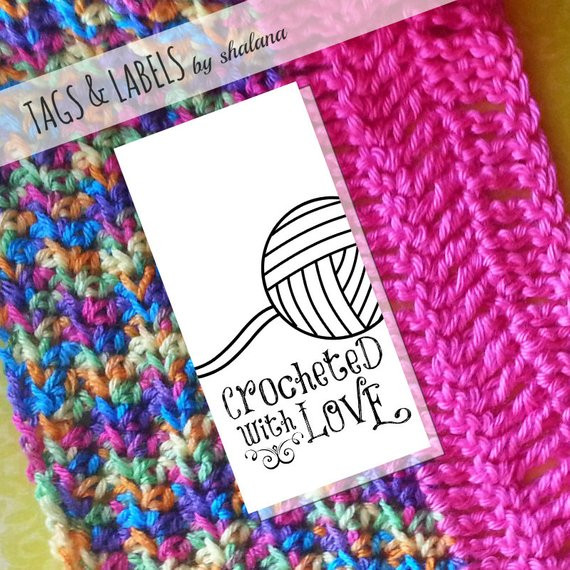 Beautiful Printable Pdf Product Tags or Sticker Labels Crocheted with Crochet Tags Of Unique 47 Models Crochet Tags