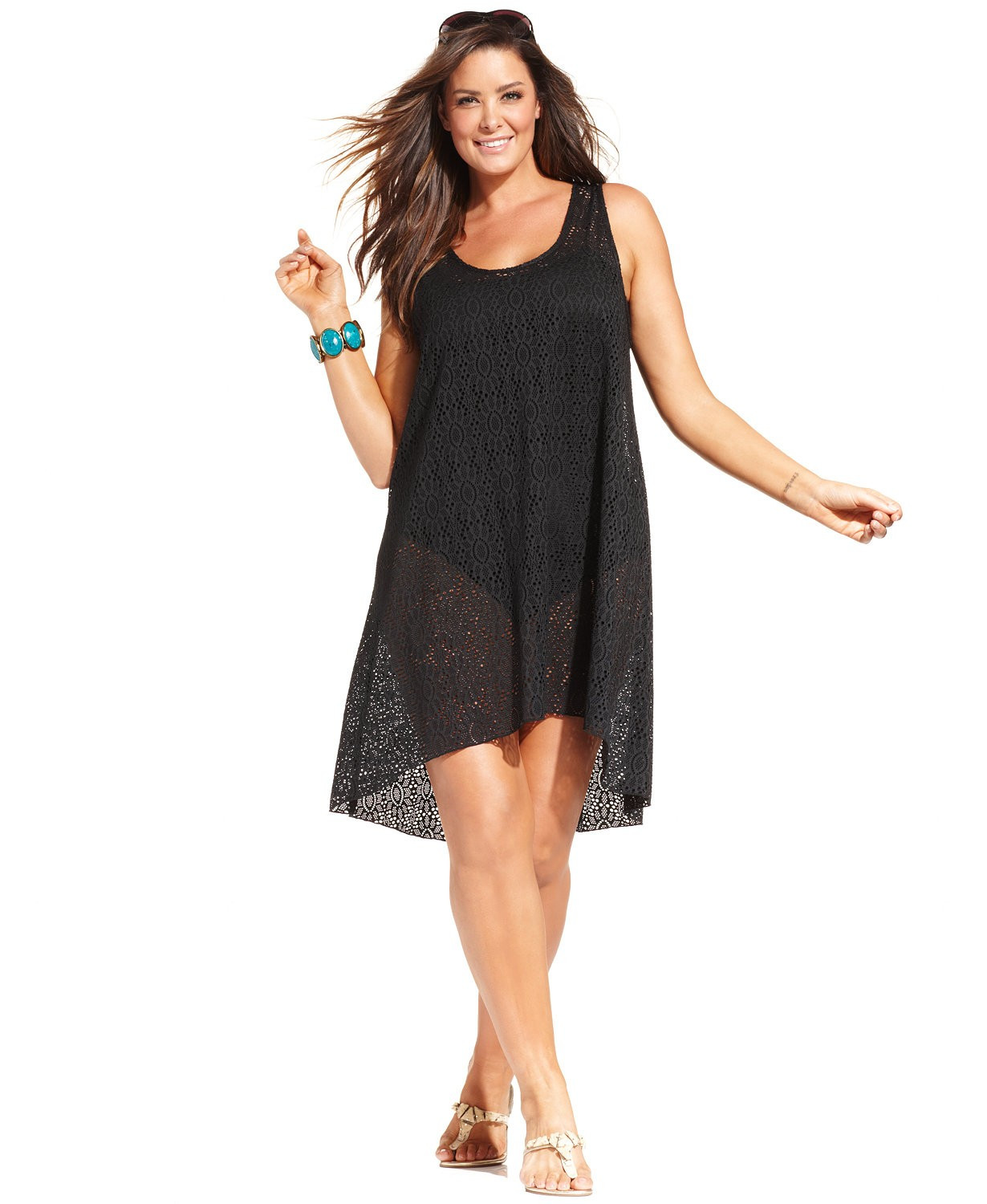 Beautiful Profile by Gottex Plus Size Crochet Lace Swimsuit Cover Up Black Crochet Cover Up Of Superb 42 Images Black Crochet Cover Up