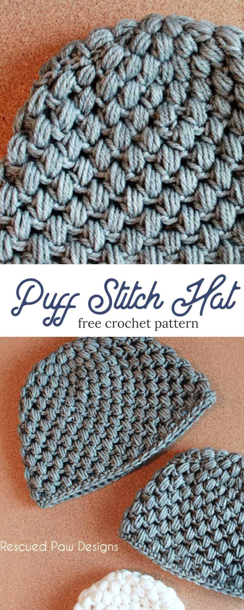 Beautiful Puff Stitch Crochet Hat Pattern ⋆ Rescued Paw Designs Crochet Puff Crochet Of Great 49 Ideas Puff Crochet