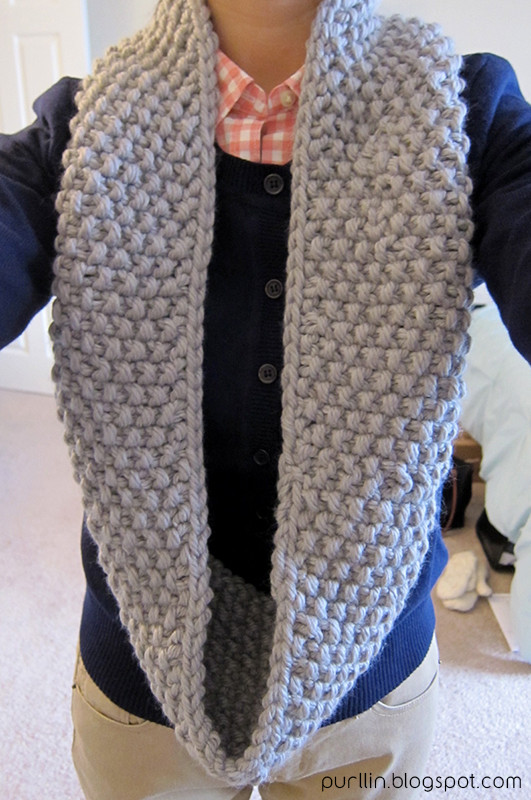 Beautiful Purllin December Seed Stitch Infinity Circle Scarf [ Free Knit Circle Scarf Of Brilliant 47 Photos Knit Circle Scarf