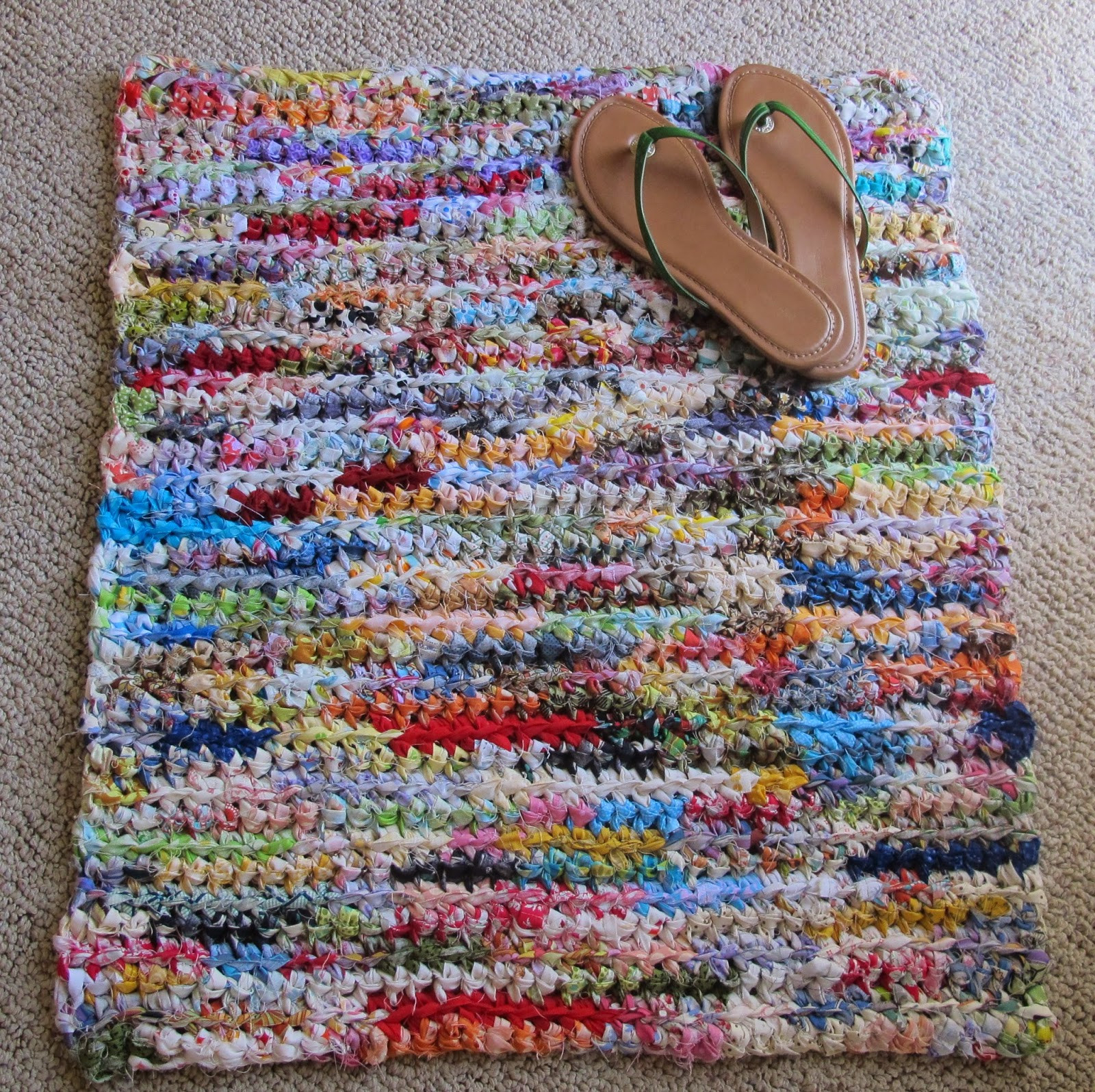 Beautiful Rag Crochet is Upcycling for Hookers Crochet Rug with Fabric Strips Of Adorable 46 Images Crochet Rug with Fabric Strips