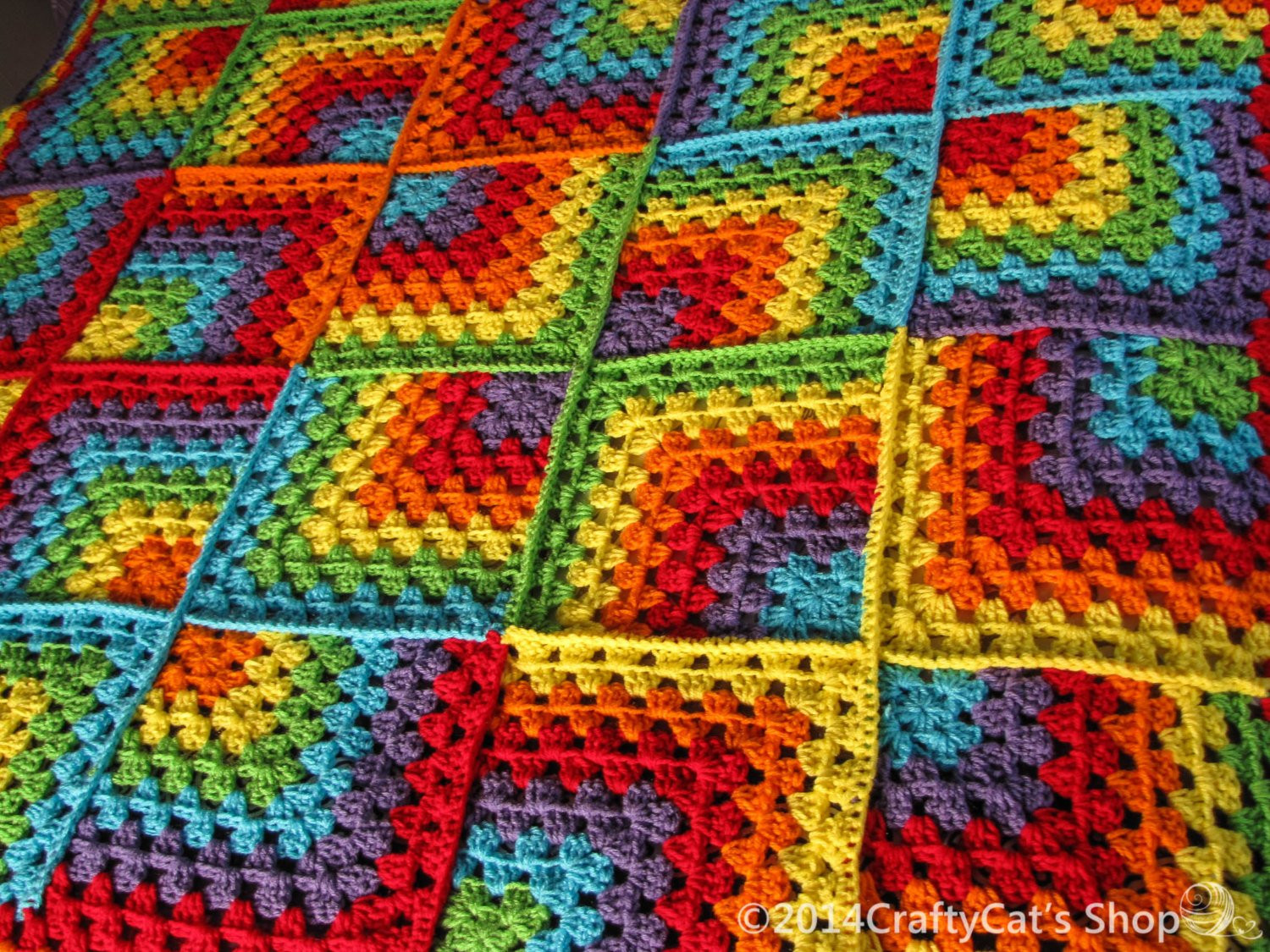 Beautiful Rainbow Crochet Throw Handmade Mitered Granny Square Blanket Rainbow Crochet Blanket Of Great 40 Photos Rainbow Crochet Blanket