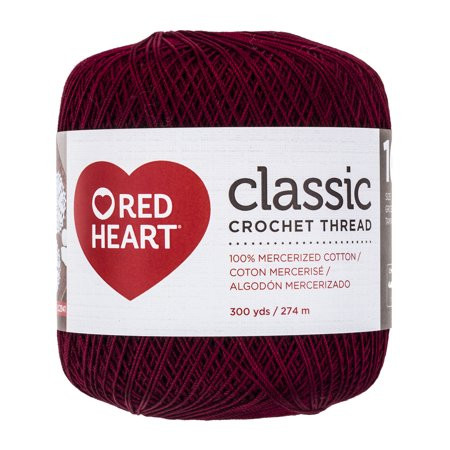 Beautiful Red Heart Classic Size 10 Burgundy Walmart Red Heart Crochet Thread Size 3 Of Beautiful 42 Ideas Red Heart Crochet Thread Size 3