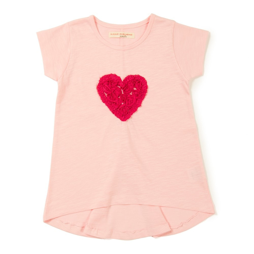 Red Heart Emblishment Girls Top Raine & Jaine Best Deals