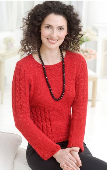 Beautiful Red Heart Shimmer Cable Sweater Free Pattern Red Heart Sweater Of Lovely 32 Ideas Red Heart Sweater