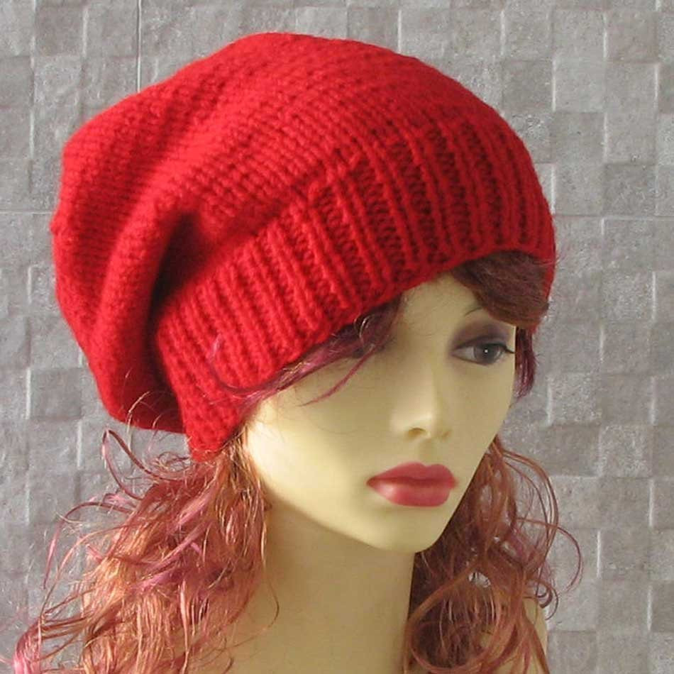 Beautiful Red Slouchy Beanie Womens Winter Hat Hand Knit Oversized Hat Red Slouchy Beanie Of New 50 Models Red Slouchy Beanie