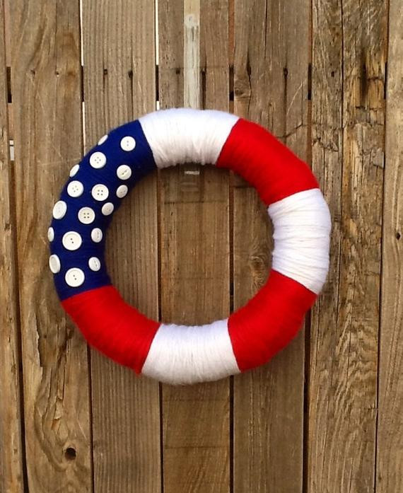 Beautiful Red White and Blue American Flag Yarn Wreath Red White and Blue Yarn Of Awesome 48 Pictures Red White and Blue Yarn