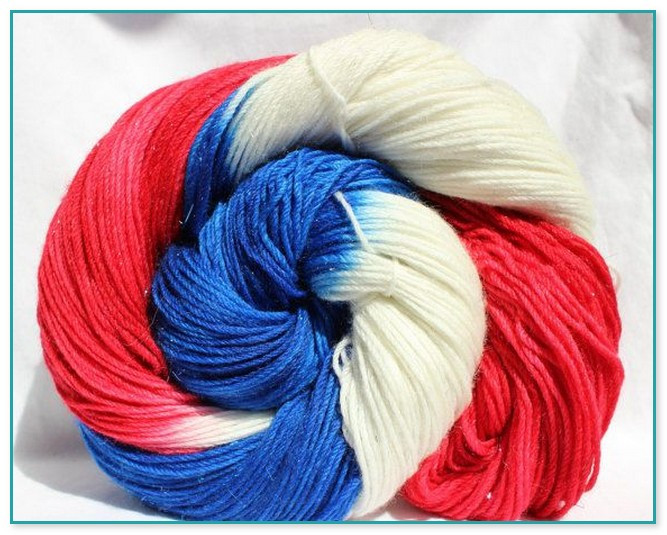 red white and blue variegated yarn