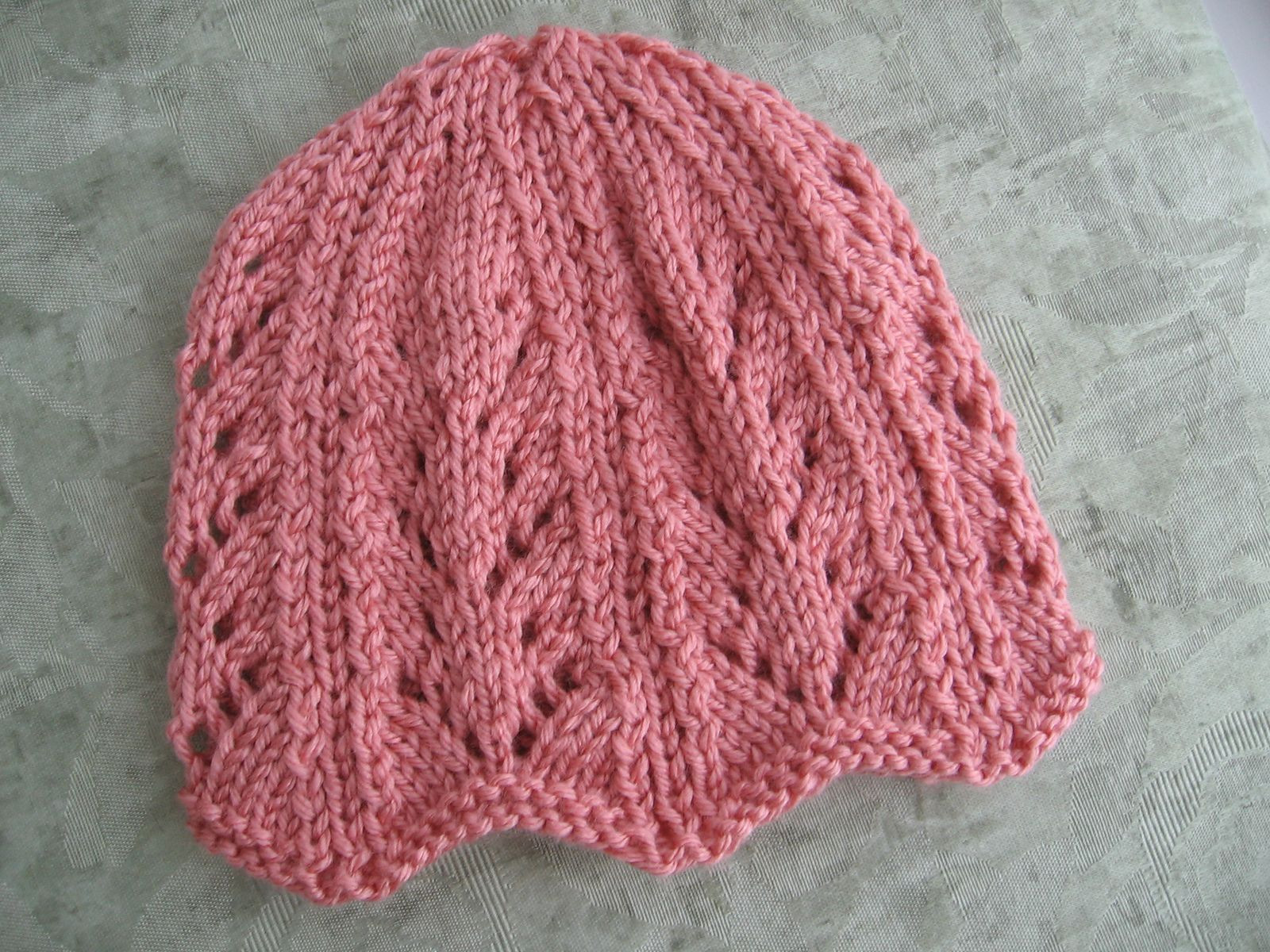 Ribbing And Lacy Chemo Caps For Straight Needles By