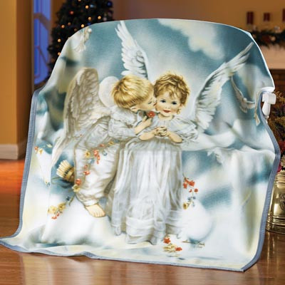 Beautiful Sandra Kuck Kissing Angel Fleece Throw Blanket From Angel Baby Blanket Of Perfect 46 Pictures Angel Baby Blanket