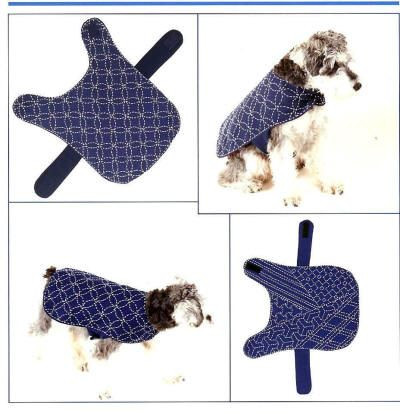 Beautiful Sashiko Coats for Dogs I Love the One On the Left Dog Coat Sewing Pattern Of New 37 Ideas Dog Coat Sewing Pattern
