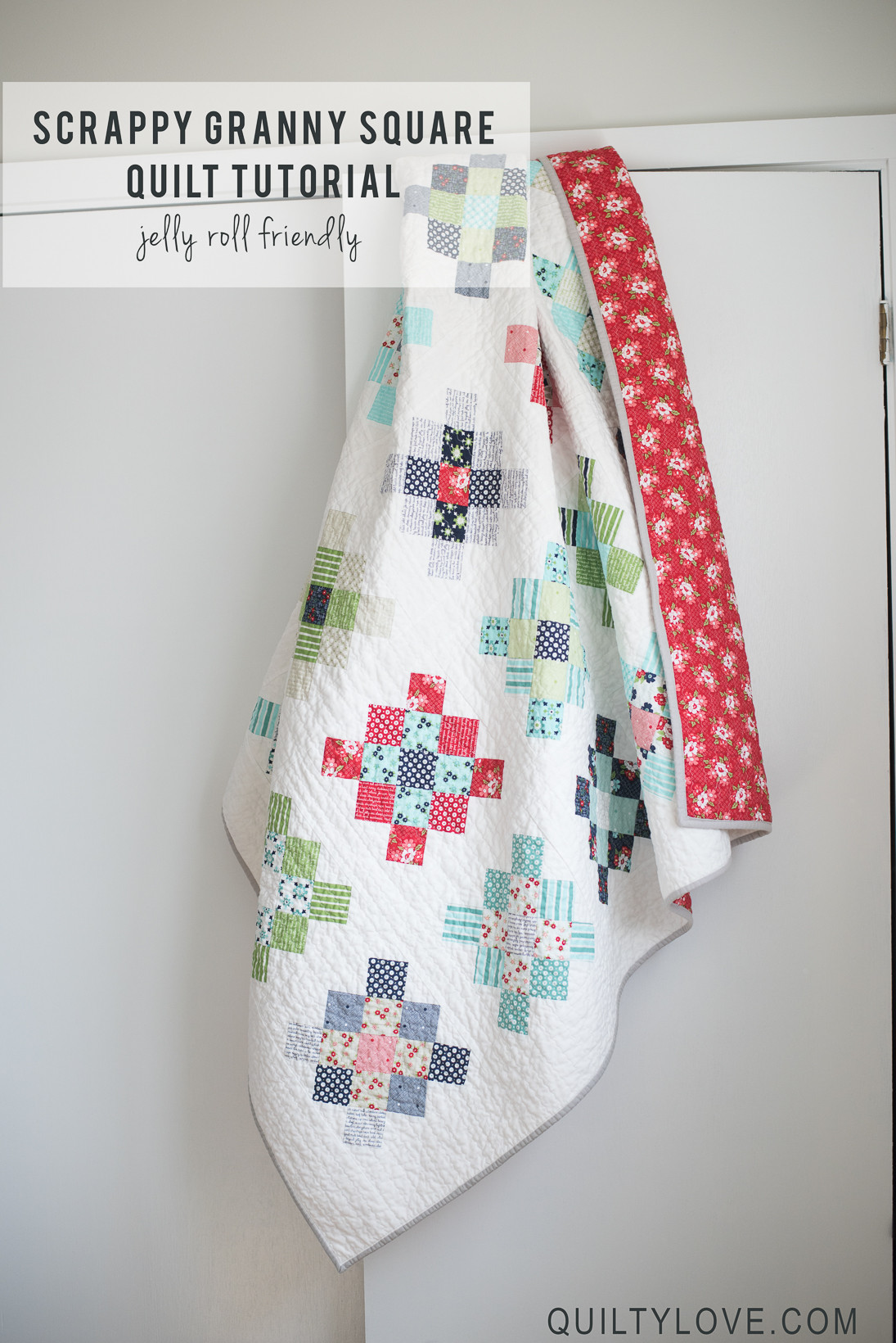 Scrappy Granny Squares Quilt Tutorial Quilty Love