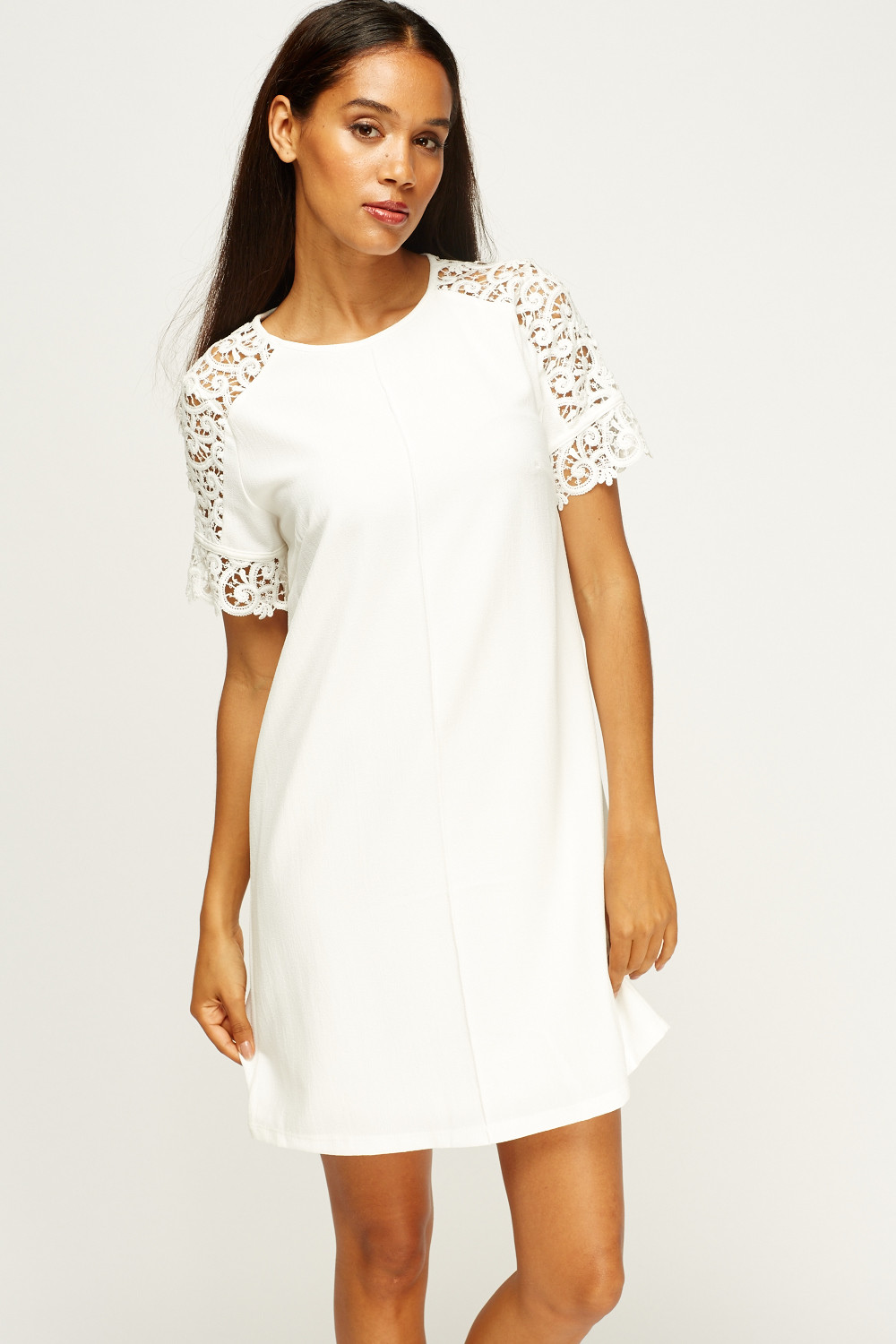 Shift Dress With Sleeves Outfit