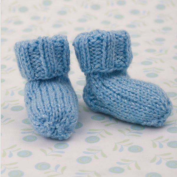 Beautiful Shimmery Simple Knit Baby Booties Baby socks Knitting Pattern Of Marvelous 40 Photos Baby socks Knitting Pattern
