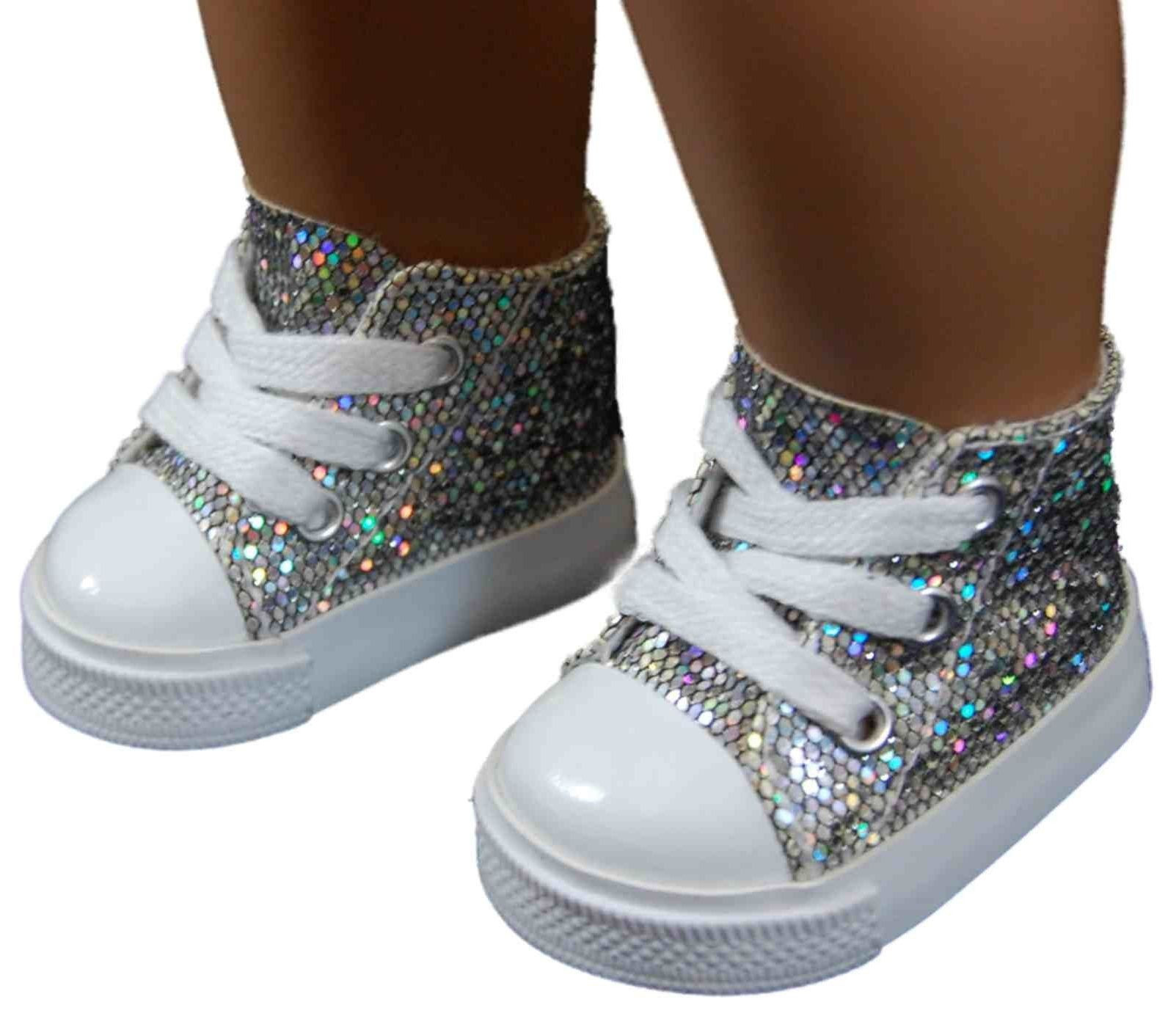 "Beautiful Silver High top Sneakers Shoes for 18"" American Girl¨ Doll Ag Doll Shoes Of Superb 49 Photos Ag Doll Shoes"