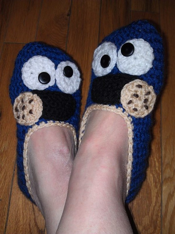 Beautiful Six Slippers Perfect for A Sunday – Starting Chain Crochet Monster Slippers Of New 37 Models Crochet Monster Slippers