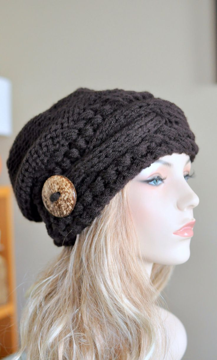 Beautiful Slouchy Hat Slouch Beanie Cable button Hat Hand Knit Slouchy Beanie Hat Of Incredible 40 Ideas Slouchy Beanie Hat