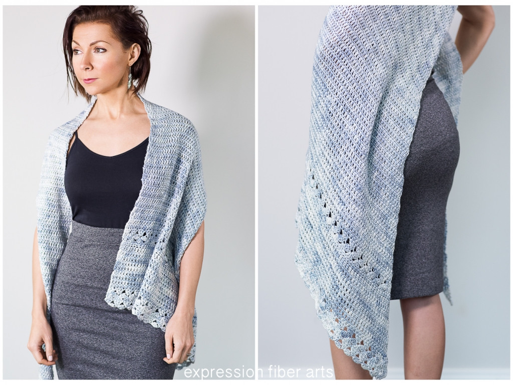 Snowflake Asymmetrical Crochet Shawl Pattern – Expression