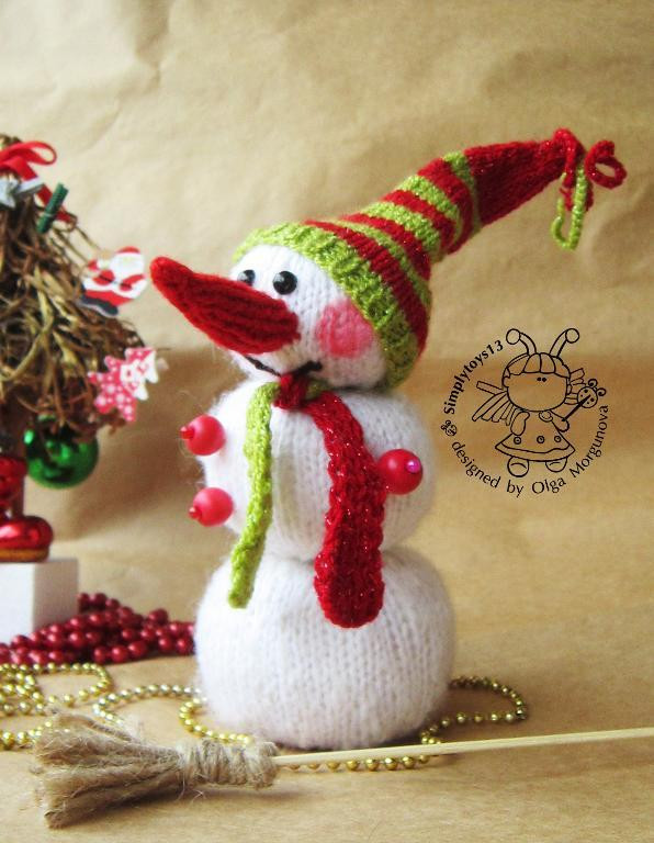 Beautiful Snowman by Simplytoys13 Craftsy Snowman Knitting Pattern Of Attractive 40 Images Snowman Knitting Pattern